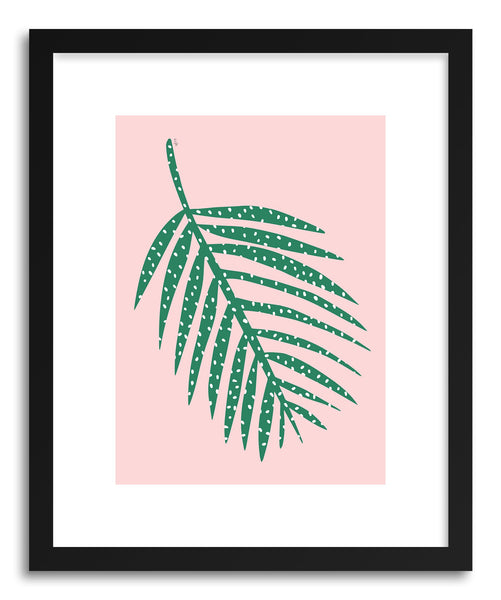 Fine art print Polka Dot Leaf In PInk by artist Linda Gobeta