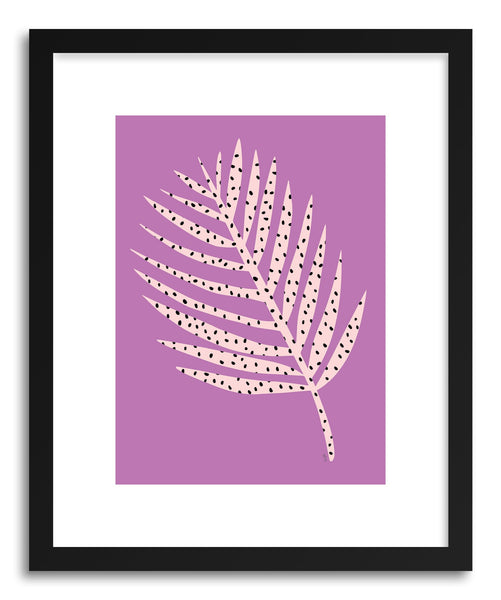 Fine art print Polka Dot Leaf In Purple by artist Linda Gobeta