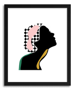 hide - Art Print Silhouette by artist Linda Gobeta on fine art paper