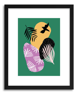 Fine art print Tropical Bird In Green by artist Linda Gobeta