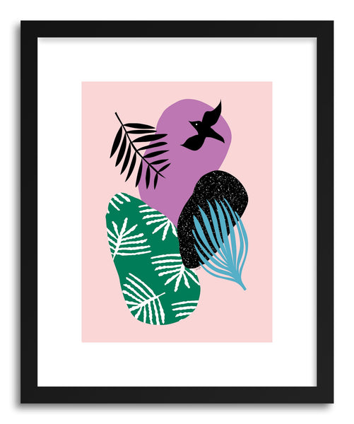 Fine art print Tropical Bird In PInk by artist Linda Gobeta