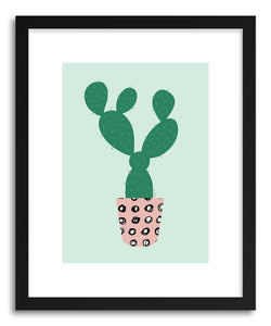 hide - Art Print Cactus by artist Linda Gobeta in white frame