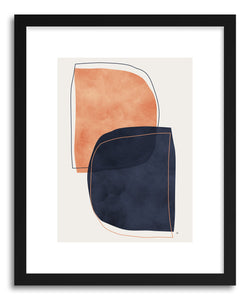 hide - Art Print Nova by artist Tracie Andrews in natural wood frame