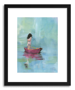 hide - Art Print A Moment by artist Shira Sela in white frame