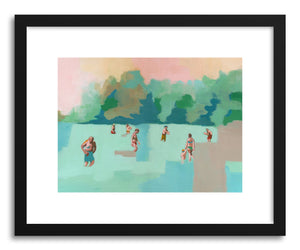 hide - Art Print Calm Water by artist Shira Sela in natural wood frame