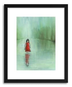 hide - Art Print GettIng to Know Me by artist Shira Sela in white frame