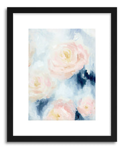 hide - Art Print Nightfall Peony I by artist Nicoletta Savod in natural wood frame