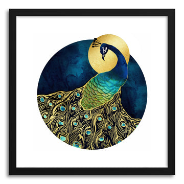 Art print Golden Peacock by artist Spacefrog Designs