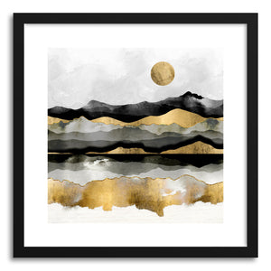 Art print Golden Spring Moon by artist Spacefrog Designs