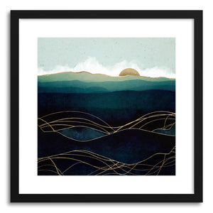 hide - Art print Indigo Waters by artist Spacefrog Designs in white frame