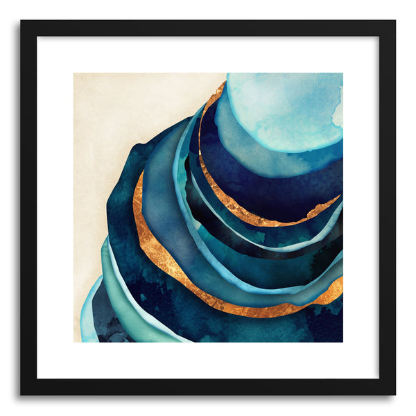 Art print Abstract Blue and Gold by artist Spacefrog Designs