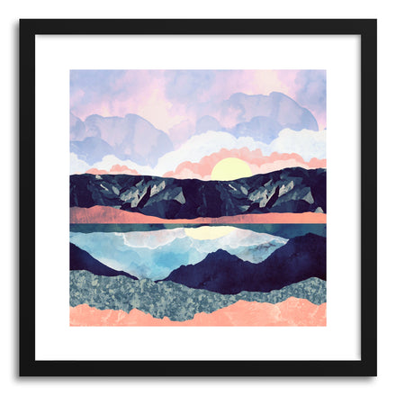 Art print Lake Reflection by artist Spacefrog Designs