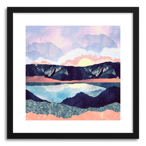 hide - Art print Lake Reflection by artist Spacefrog Designs in white frame