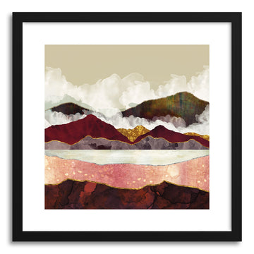 Art print Melon Mountains by artist Spacefrog Designs