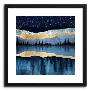 Art print Midnight Lake by artist Spacefrog Designs