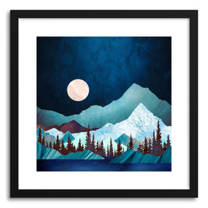 hide - Art print Moon Bay by artist Spacefrog Designs in natural wood frame
