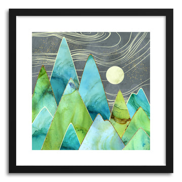 Art print Moonlit Mountains by artist Spacefrog Designs