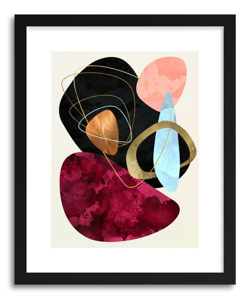 Art print Abstract Pebble II by artist Spacefrog Designs