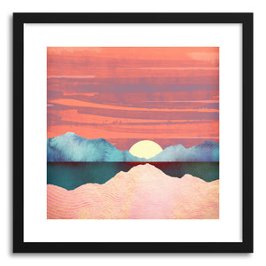 hide - Art print Pink Oasis by artist Spacefrog Designs in natural wood frame