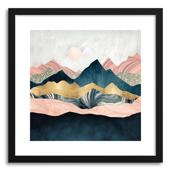 Art print Plush Peaks by artist Spacefrog Designs