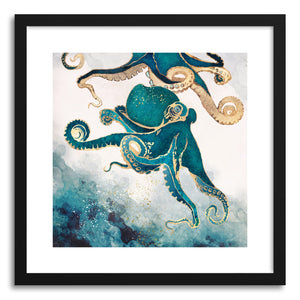 hide - Art print Underwater Dream V by artist Spacefrog Designs in natural wood frame