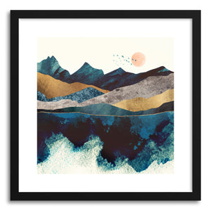 Art print Blue Mountain Reflection by artist Spacefrog Designs