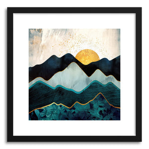 hide - Art print Glacial Hills by artist Spacefrog Designs in white frame