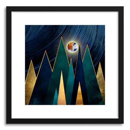 Art print Metallic Peaks by artist Spacefrog Designs