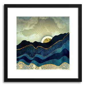hide - Art print Post Eclipse by artist Spacefrog Designs in natural wood frame
