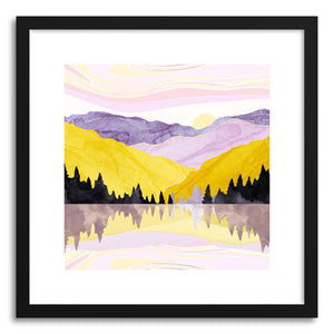 hide - Art print Spring Lake by artist Spacefrog Designs in natural wood frame