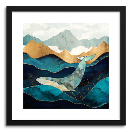 Art print Blue Whale by artist Spacefrog Designs