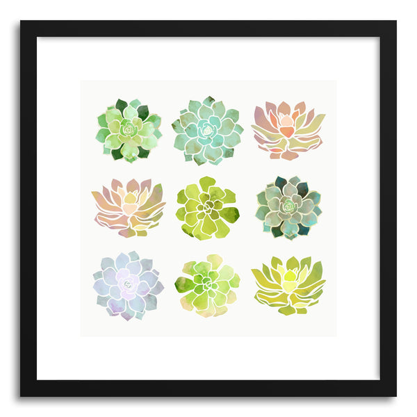Art print Spring Succulents by artist Spacefrog Designs