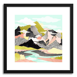 hide - Art print Summer River by artist Spacefrog Designs in white frame