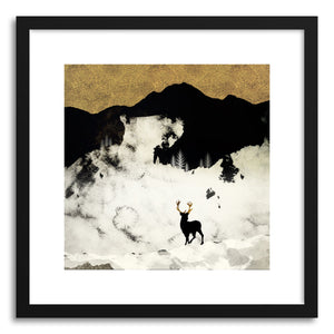 hide - Art print Winter Silence by artist Spacefrog Designs in natural wood frame