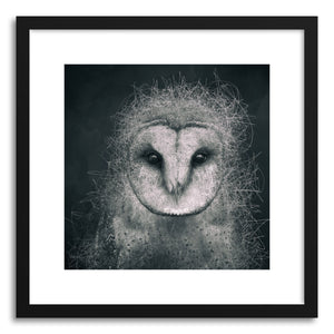hide - Art print Wisdom by artist Spacefrog Designs in white frame