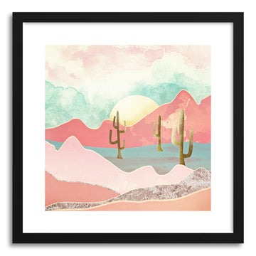 Art print Desert Mountains by artist Spacefrog Designs