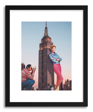 Art print Tourists by artist Maarten Leon