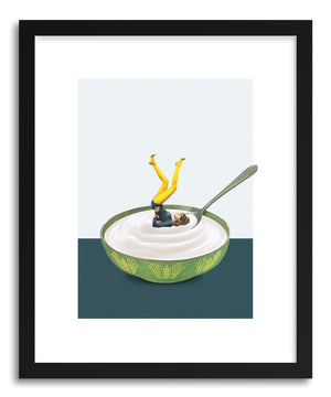 Art print Yoga In My Yogurt by artist Maarten Leon