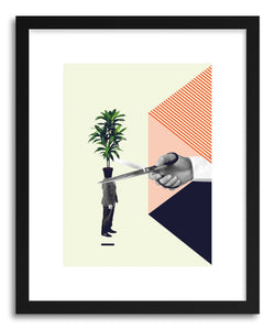 hide - Art print C Is For Cut The Crap by artist Maarten Leon in white frame