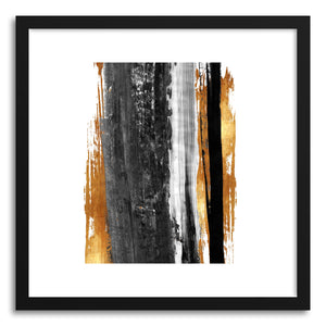 hide - Art print Arpeggio by artist Mixgallery in natural wood frame