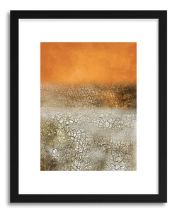 hide - Art print Arancia Calda by artist Mixgallery in white frame