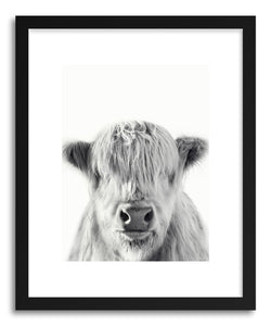 hide - Art print I See You, I Can't See You by artist By The Horns in natural wood frame