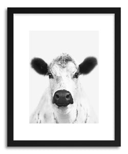 hide - Art print Pearl by artist By The Horns in natural wood frame
