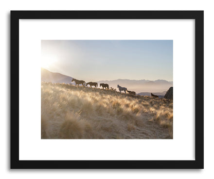 Art print Round Top Horses by artist By The Horns