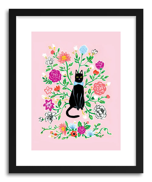 Fine art print Black Cat by artist Skylar Kim