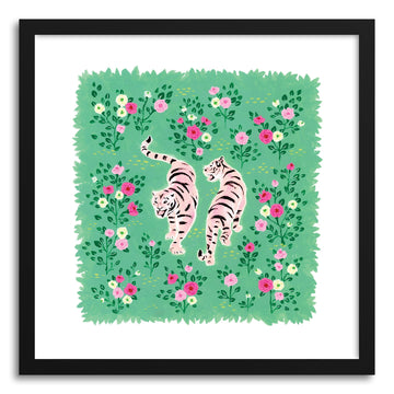 Fine art print Two Pink Tigers by artist Skylar Kim