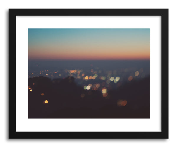 Fine art print Blue Los Angeles Sunset by artist Myan Soffia