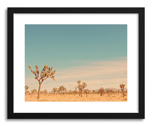 hide - Art print Joshua Tree No.1 by artist Myan Soffia in natural wood frame