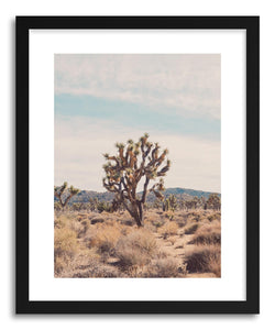 hide - Art print Joshua Tree No.2 by artist Myan Soffia in white frame