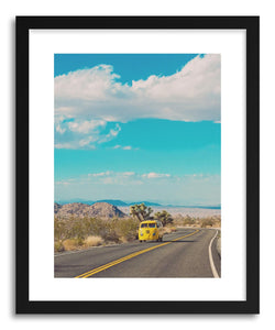 hide - Art print Open Road No.2 by artist Myan Soffia in natural wood frame